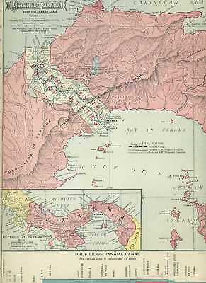 1911 Vintage MAP of ABYSSINIA  Beautiful COLOR