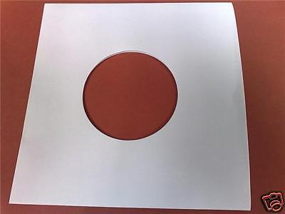 "100 X 7"" White Paper Record Sleeves / Covers - New - Highest Quality - 80 Gsm"