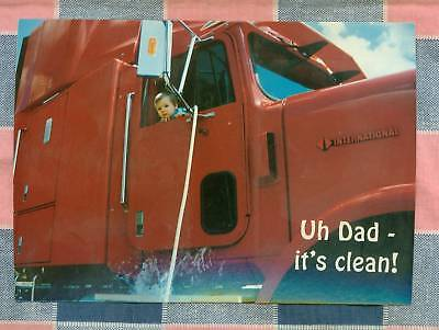 50 Postcards Little Lee Comic Trucking Uh Dad it's Clean