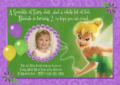 TINKERBELL CUSTOM BIRTHDAY Invitations