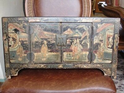 Qing Dynasty Wooden Chest Chinese Antique 150 Yrs Old