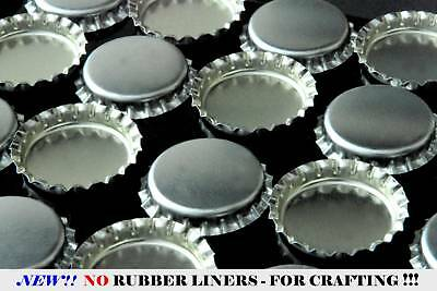 100 QTY - SHINY SILVER LINERLESS BOTTLE CAP - NO LINER BOTTLECAP Pendant Jewelry