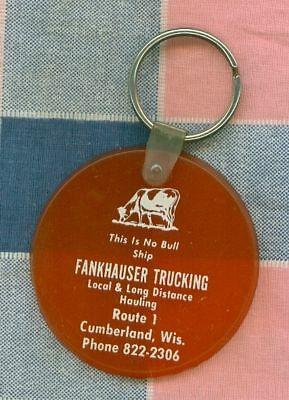 Old Keychain Cumberland Wis Frankhauser Trucking Local