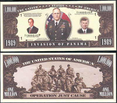 LOT OF 25 - INVASION OF PANAMA w GEORGE BUSH BILL