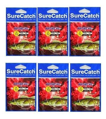 6 Packets of Surecatch Whiting Rigs with Size 10 Chemically Sharpened Hooks
