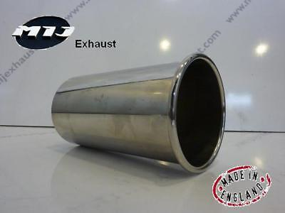 "3"" inch o/d High Grade T304 Stainless Steel Exhaust TailPipe Rolled Out Trim Tip"