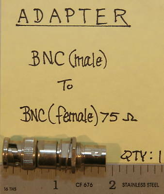 BNC(Male) to BNC(Female) 75 Ohm Adapter