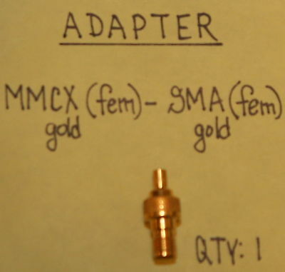 MMCX(Female) to SMA(Female) Gold Adapter