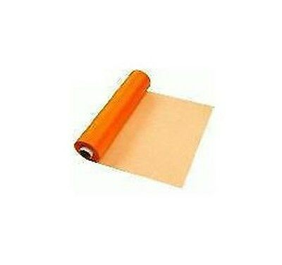 Orange Organza Sheer fabric Roll 29cm x 25m Wedding