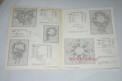 Counted Cross stitch Chart- Miniature Country Wreaths