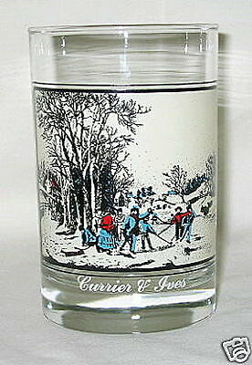 Arby's Currier & Ives Winter Pastime 12-oz Glass