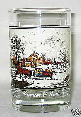 Arby's Currier & Ives Farm In Winter 12-oz Glass