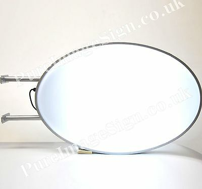 """LED 55 x 80cm 22""""x32"""" Double Sided Projecting Oval projecting Light box Sign"""
