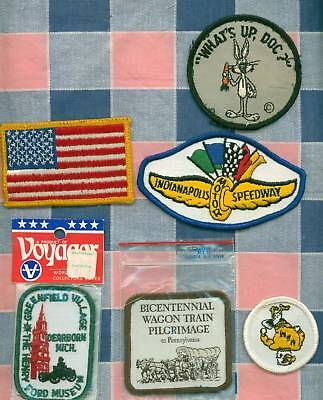 Six Older Patches Some Unused Flag Indy Speedway