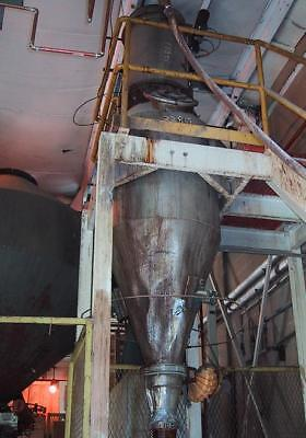 Double Cone Conical Rotary Drum Mixer Nickel inner clad shell Vacuum Load System