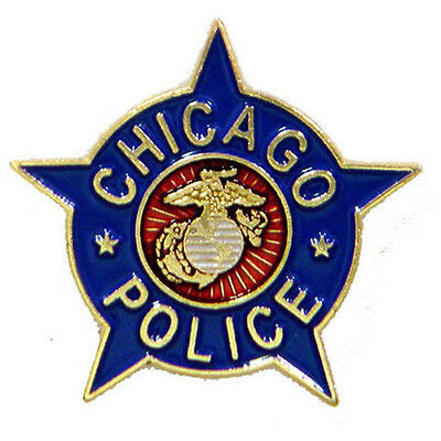 Chicago Police Marine Lapel Tie Pin         9002