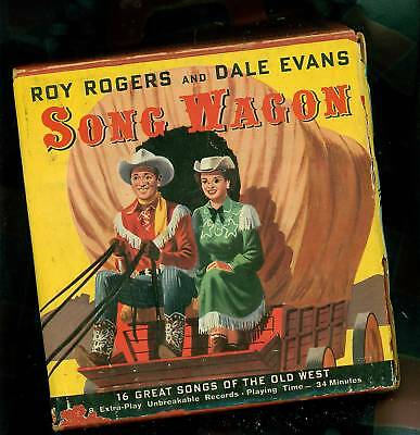 Old Roy Rogers and Dale Evans Song Wagon Golden Record