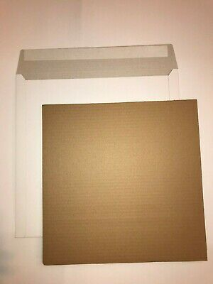 "200 12"" Lp White Record Mailers +200 Stiffeners+Free 24H Delivery"