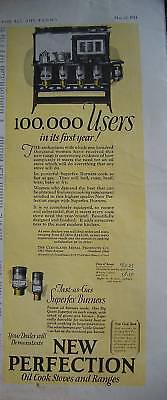 1924 Antique New Perfection Oil Cook Stove COLOR Ad