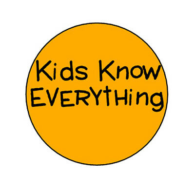 KIDS KNOW EVERYTHING pin button badge funny punk emo