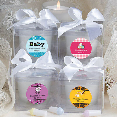 60 -  Personalized Baby Shower Candle Favors