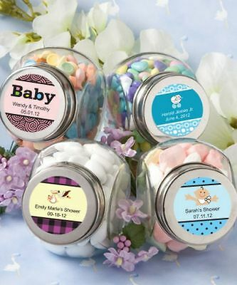 84 - Personalized Baby Shower Glass Jar Favor