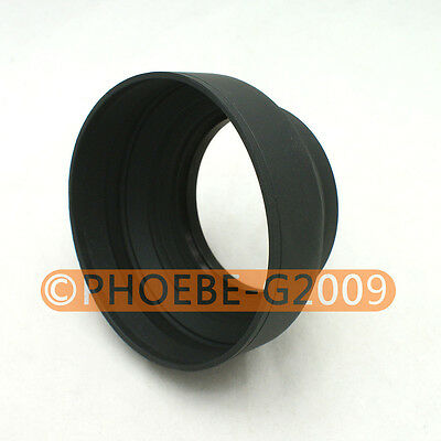 72mm 3-in-1 3-Stage Collapsible Rubber Lens Hood