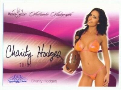 Charity Hodges Pink Autograph /50 Benchwarmer Signature