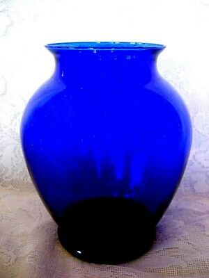 Beautiful Collectible Cobalt Blue Blown Glass Vase - MORE AVAILABLE