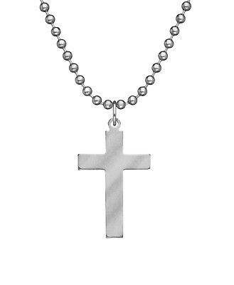 """Military Issue Pendant  Cross Chaplain Catholic Usa Made Jewelry With 24"""" Chain"""