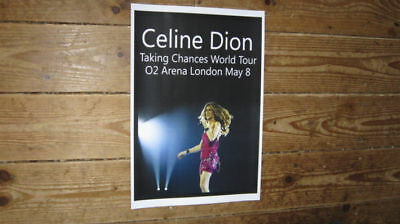 Celine Dion New World Tour London Repro POSTER