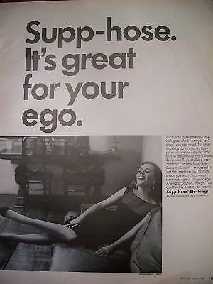 1966 SUPP-HOSE Hosiery Stockings Great for Ego Ad
