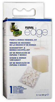 Fluval Edge Bio Filter Foam Sponge Biomax Media Renewal Kit Aquarium Fish Tank