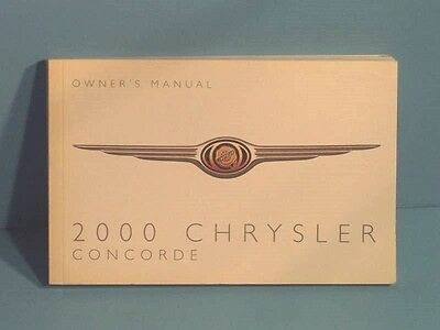 00 2000 chrysler concorde owners manual 5 40 picclick rh picclick com 2001 Chrysler Concorde 1997 Chrysler Concorde