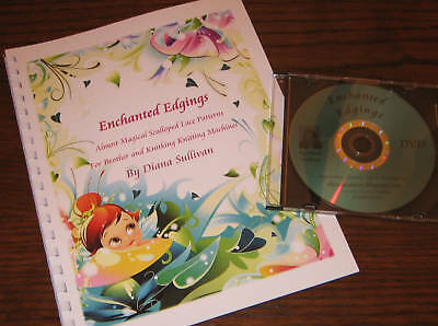 Enchanted Edgings Book & DVD - Machine Knit Lace
