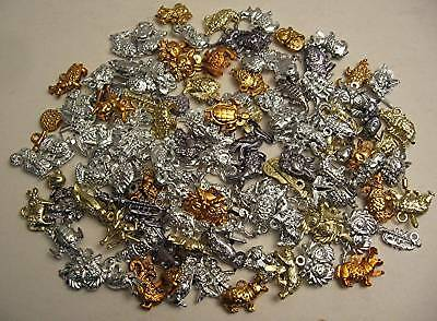 100 Charmbest Metallic Plastic Vending Charms Old Stock