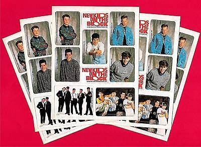 1989 New Kids on the Block 20 Sticker Sheets Old Stock