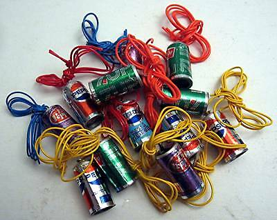 12 Old Pepsi 7Up Dr Pepper Soda Can Charm Vending Toys