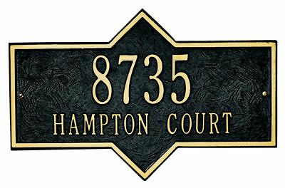 Whitehall Plaque - Hampton Cast Aluminum Wall Sign