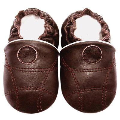 Littleoneshoes SoftSole Leather Baby Infant Kid Children OwlBeige Shoes 12-18M