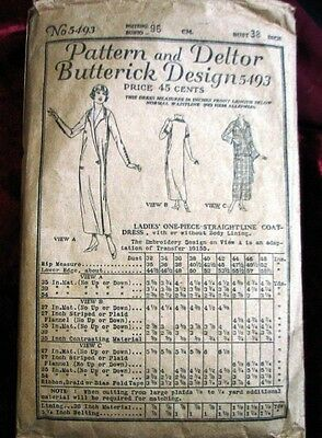 1920s BUTTERICK SEWING PATTERN AND DELTOR DESIGN