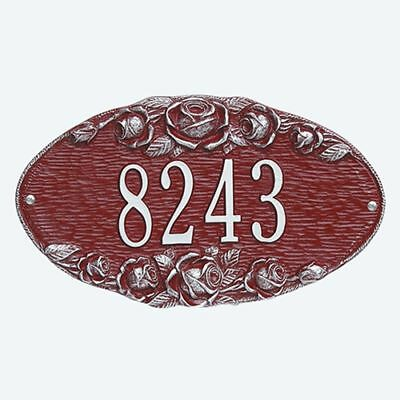 Whitehall Plaque - Rose Oval Cast Aluminum Wall Sign