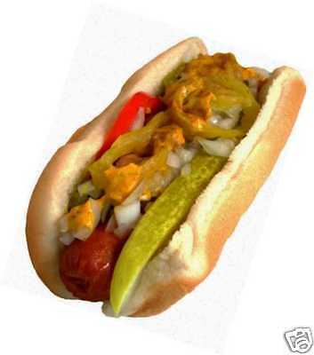 """Concession Decal 8"""" Chicago Hot Dog Hotdogs Food Truck Restaurant Sticker Cater"""