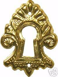 Save $5.00 Free Shipping  Lot Of 8 Each   Stamped Brass Key Hole Cover  B0293-8