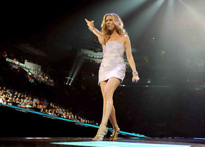 Celine Dion Full Colour Live on Stage 10x8 Photo #1