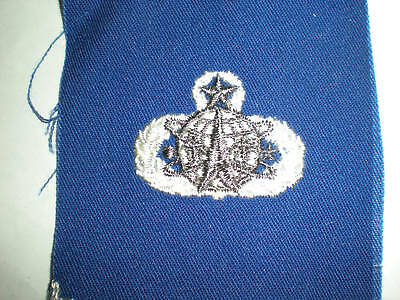 Usaf Space Operations 9 Level Badge - On Blue Twill