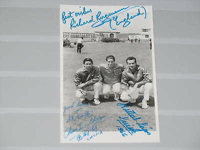 POST CARD PC Original Autograph Autogramm Chinese Swiss ENG Table Tennis WC 1966