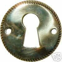 Save $5.00 Free Shipping Lot Of 8 Each  Stamped Brass Key Hole Cover  B0236-8