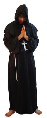 Medieval//LARP Fancy Dress DELUXE HOODED MONK//PILGRIM includes belt-ALL SIZES
