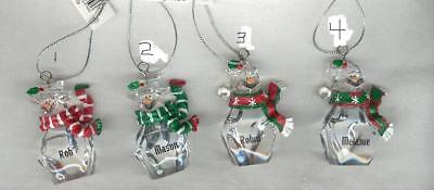 Christmas Ornament Snowman Personalized Name  Hol-Jessi